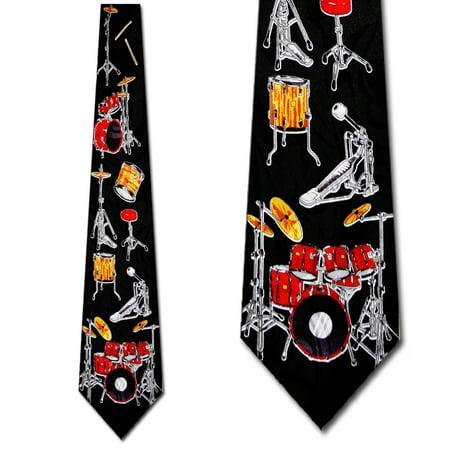 Drum Kit Breakdown Necktie Mens Tie by -