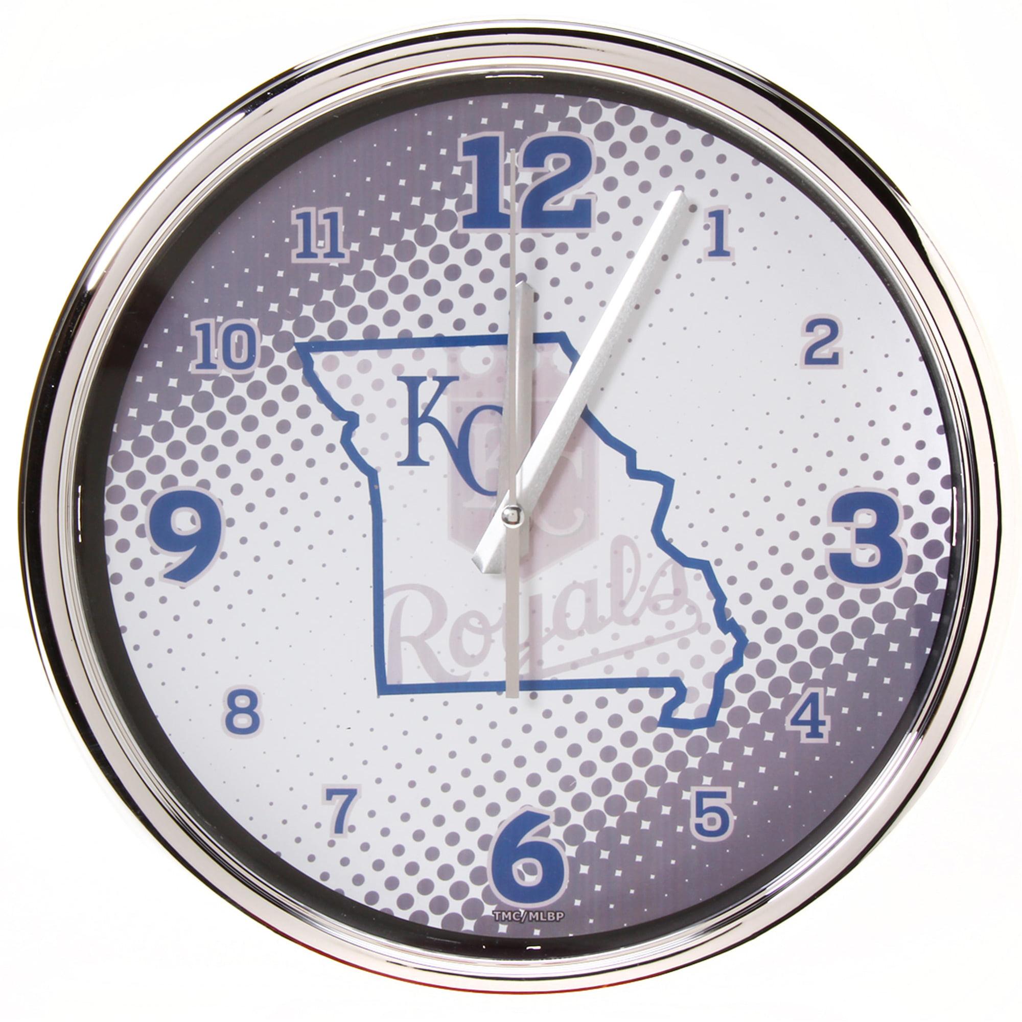"Kansas City Royals State of Mind 12"" Chrome Wall Clock - No Size"