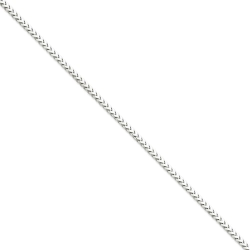 14k White Gold 8in 3.0mm Solid Polished Franco Chain Bracelet by Jewelrypot