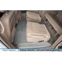 2008-2017 Dodge Caravan (Only Fits Models With Bucket Seats Only and Stow N Go Seats) - MAXFLOORMAT Floor Mats - Second and Third Row - Grey