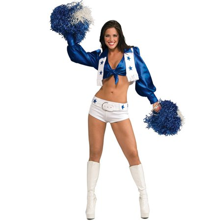 Licensed Deluxe Dallas Cowboys Cheerleader Costume for Women - Dallas Cowboys Costumes