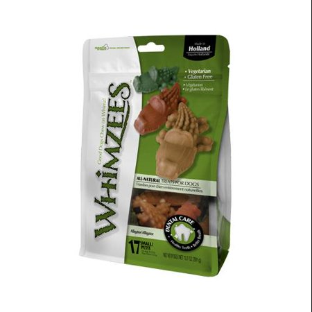 Whimzees Alligator Dental Dog Treats, Small, 17 Count