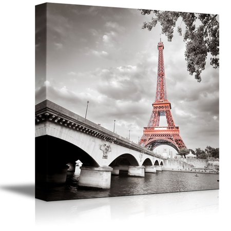 Paris Eiffel Tower Decor (wall26 - Eiffel Tower in Paris France - Canvas Art Wall Decor -)