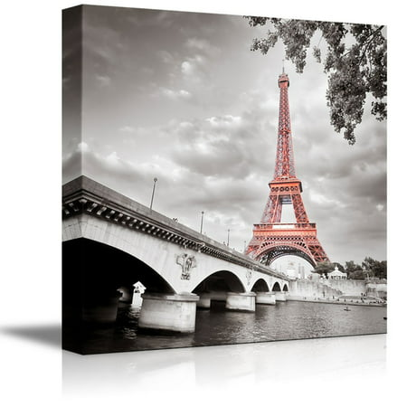 wall26 - Eiffel Tower in Paris France - Canvas Art Wall Decor - 12