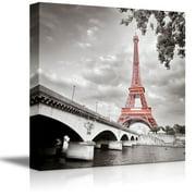 "wall26 - Eiffel Tower in Paris France - Canvas Art Wall Decor - 12""x12"""