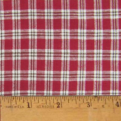 Liberty Red 3 Plaid Homespun Cotton Fabric  Sold by the Yard - JCS Fabric