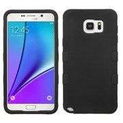 Insten Tuff Hard Hybrid Rugged Shockproof Silicone Case For Samsung Galaxy Note 5 - Black
