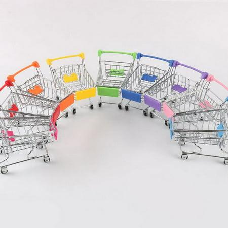 Creative Supermarket Mini Shopping Cart Trolley Metal Simulation Kid Toy - image 6 de 6