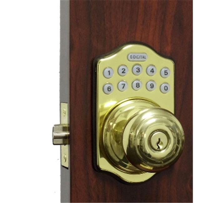 Lockey E-930-BB-R E Digital Electronic Knob Lock Remote Capable - Bright Brass