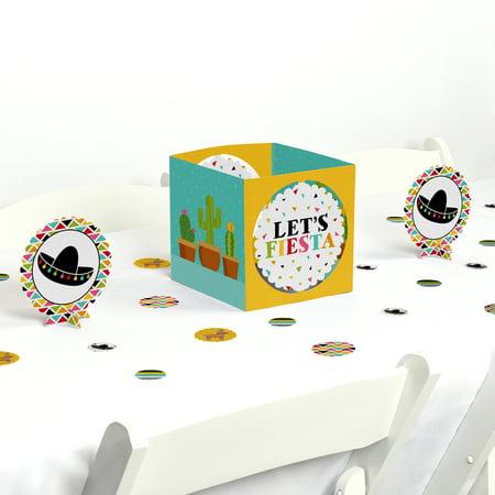 Let's Fiesta - Mexican Fiesta Party Centerpiece & Table Decoration - Fiesta Centerpieces Ideas