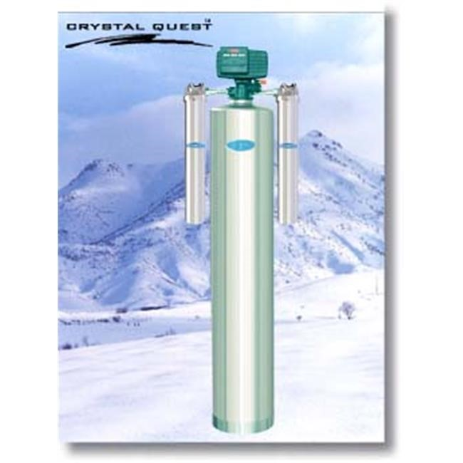 Crystal Quest CQE-WH-01198 Whole House Manganese Iron Hydrogen Sulfide 2.0 Water Filter System