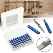 10pcs 3.175mm Shank 30 Degree PCB Solid Carbide Engraving Bits CNC Router Tool