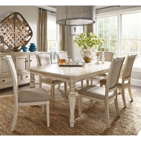 Ashley Demarlos 7 Piece Extendable Dining Set In Parchment White