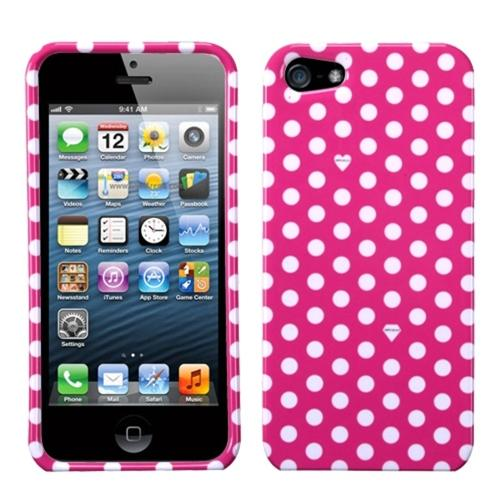 Insten Dots(Pink/white) Phone Case for Apple iPhone SE / 5S / 5