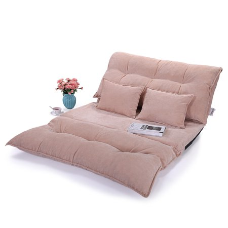 Lazymoon Adjule Floor Chairs Sofa Bed Video Gaming Lounge Lazy Couch W 2 Pillow