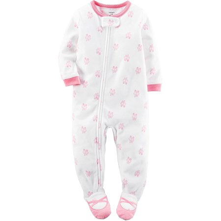 ffabffb87 Carter s - Carter s Baby Girls  1-Piece Footed Fleece Pajamas Pj s ...