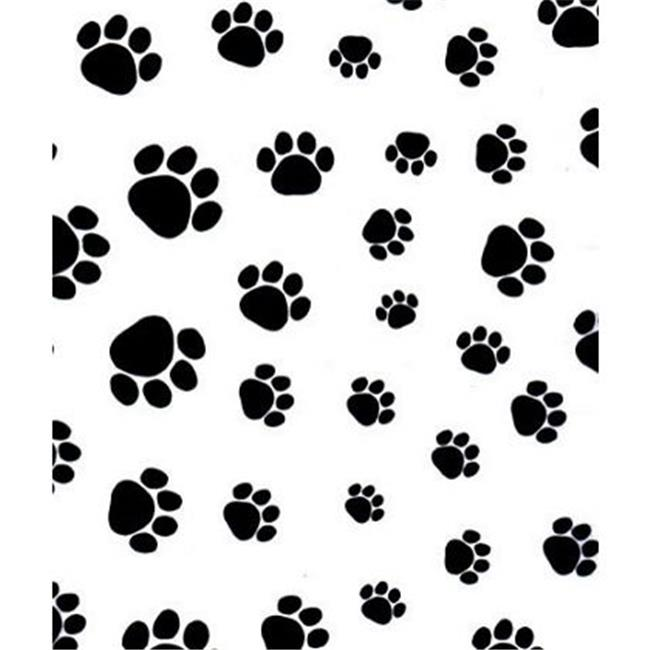 Deluxe Small Business Sales 11-02-210 20 x 30 in. Puppy Paws Tissue Paper, Black on White
