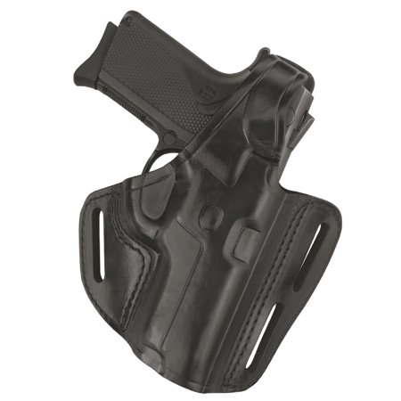 Gould and Goodrich B803-195 Gold Line 3-Slot Pancake Holster, Black