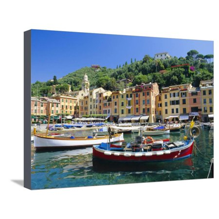 Portofino, Liguria, Italy, Europe Stretched Canvas Print Wall Art By Ruth Tomlinson