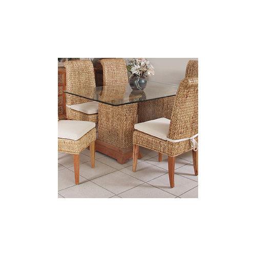 Hospitality Rattan Sea Breeze Seagrass Rectangular Pedestal Dining Table
