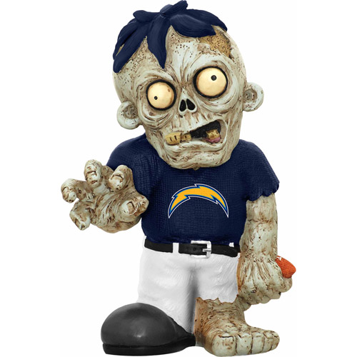 Forever Collectibles NFL Resin Zombie Figurine, San Diego Chargers