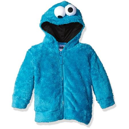Sesame Street Boys' Fuzzy Costume Hoodie (Multiple Characters)](Sesame Street Halloween Costumes Big Bird)