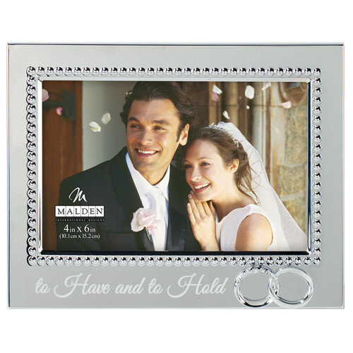 Malden 4'' x 6'' Beaded Wedding Rings Picture Frame