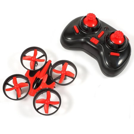 Bangcool Mini RC Drone Toys, 2.4G Mini UFO Quadcopter with 6-Axis Gyroscope, Headless Mode 3D Flip One Key Return (Red)