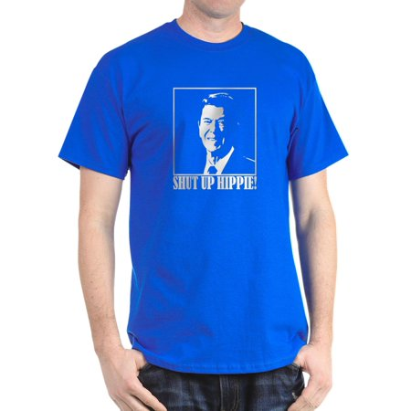 2e95b8e9837c3 Ronald Reagan Says SHUT UP HIPPIE! - 100% Cotton T-Shirt