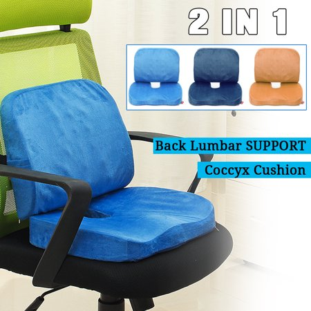 Quality Memory Foam Orthopedic Pillow Seat Cushion And Lumbar Support For Car Office Computer Chair Wheelchair Tailbone Coccyx Sciatica Pain Relief