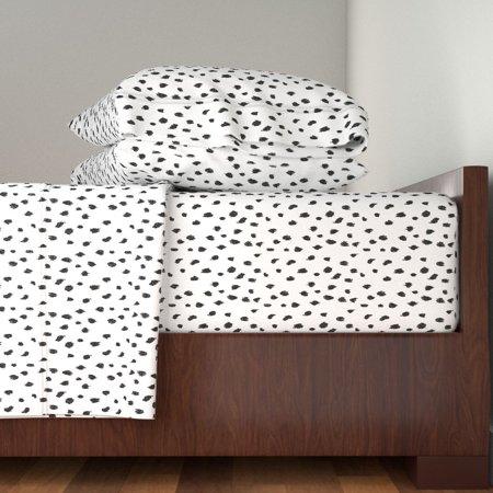 Animal Print Dalmatian Cheetah Leopard 100% Cotton Sateen Sheet Set by Roostery