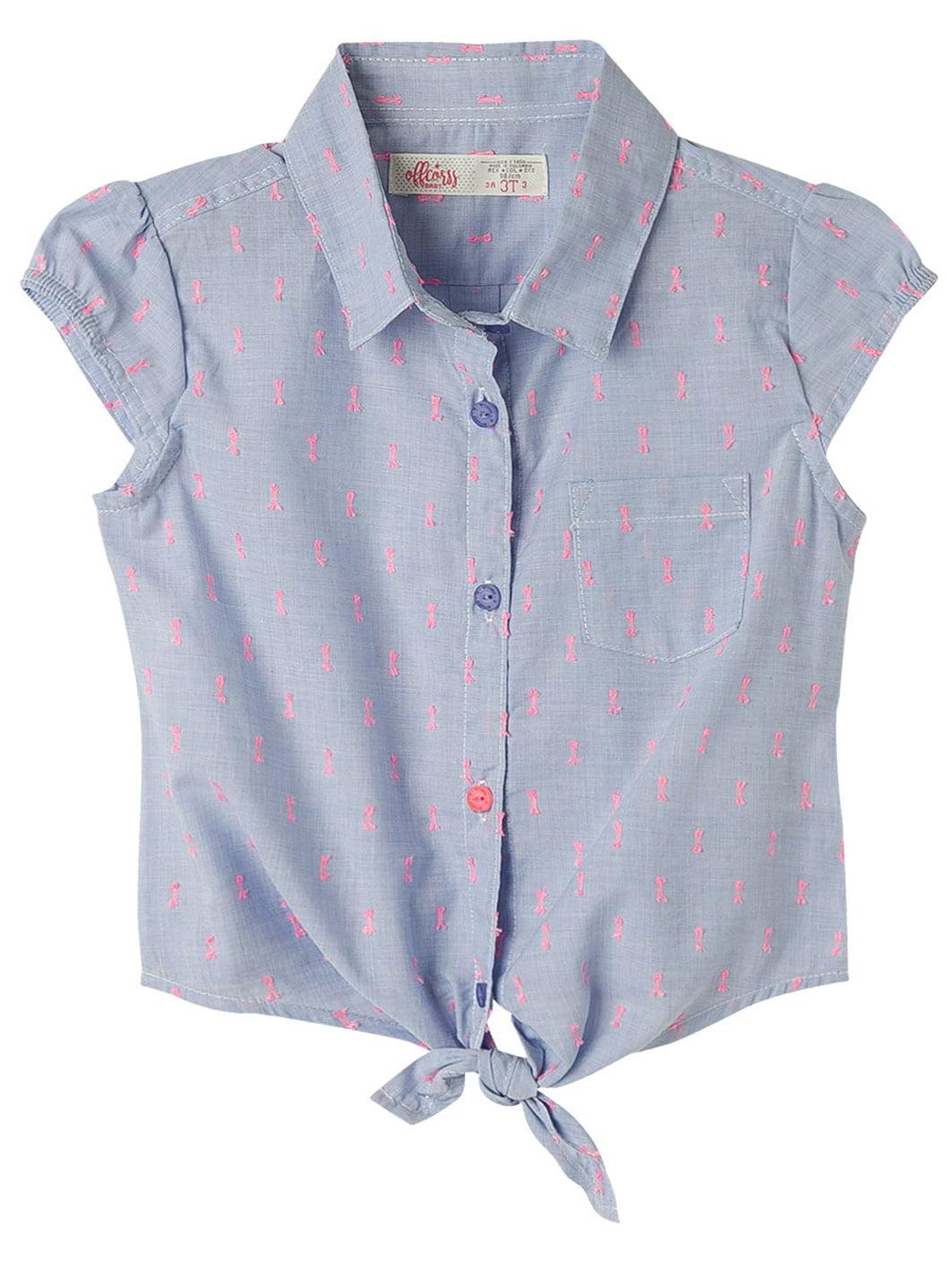 OFFCORSS Toddler Girls Sleeveless Collared Shirt Blouse | Blusa Casual de Niña