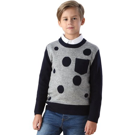 Sweater For Boys (Leo&Lily boys Wool Blends Casual Dobby Sweater)