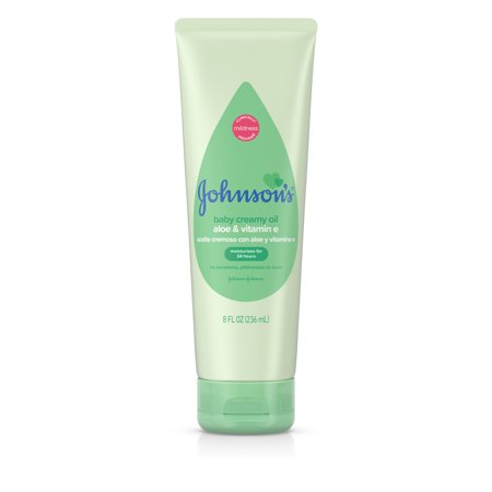 Johnsons Baby Creamy Oil Lotion with Aloe and Vitamin E, 8 fl oz