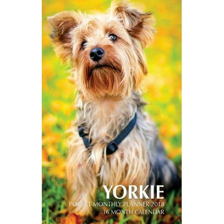 - Yorkie Pocket Monthly Planner 2018: 16 Month Calendar (Paperback)