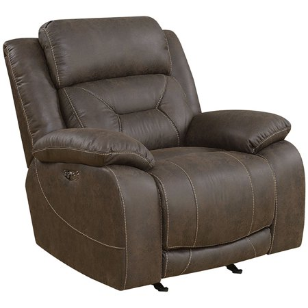 Steve Silver Co. Aria Power Glider Recliner with Power Head Rest (Steve Head)