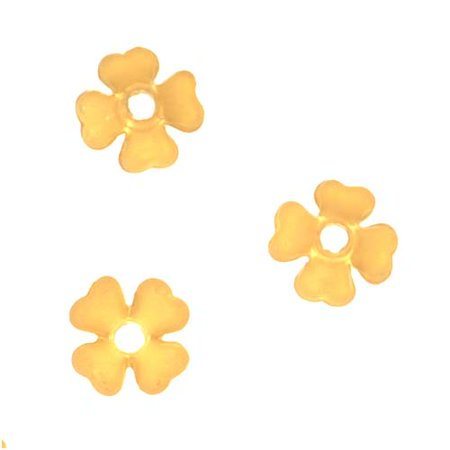(Lucite Baby's Breath Tiny Flowers Matte Yellow Topaz Light Weight 6mm (10))
