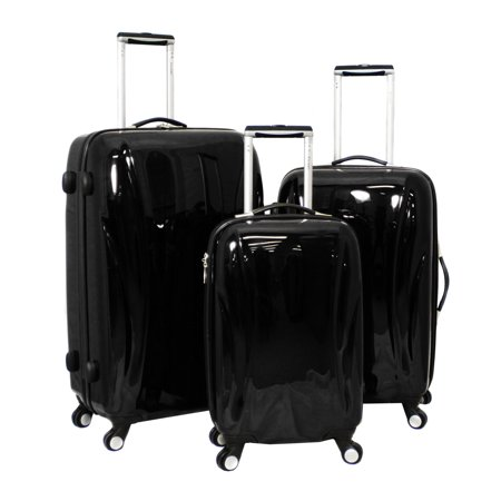 bcaca8bce936 Chariot Belluno 3-Piece Hardside Lightweight Upright Spinner Luggage Set