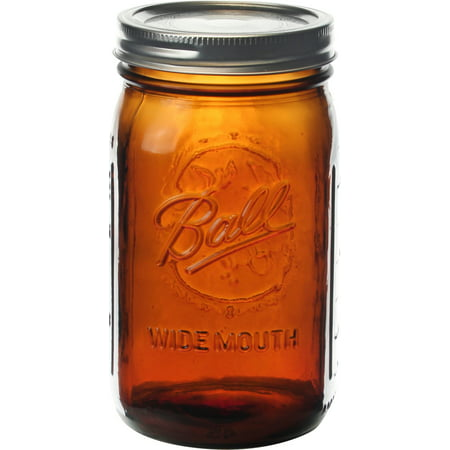 Ball(R) Wide Mouth Canning Jars 4/Pkg-Quart Elite Color Series Amber, 32oz