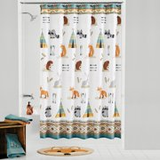 Mainstays Kids Woodland Creatures Fabric Shower Curtain, 1 Each