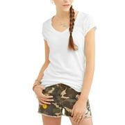 Juniors' Everyday V-Neck Short Sleeve T-Shirt