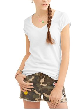 Juniors Everyday V Neck Short Sleeve T Shirt