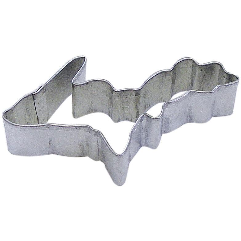 State Of Michigan Upper Tin Cookie Cutter 3.5 in - R&M Brand Cookie Cutters - Tin Plate Steel