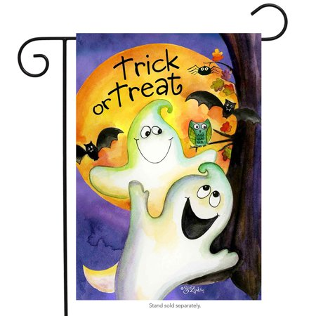 trick or treat ghouls halloween garden flag ghosts 12.5