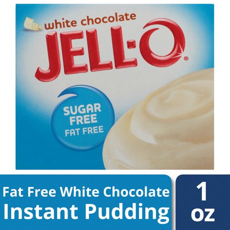 (4 Pack) Jell-O White Chocolate Sugar-Free-Fat-Free Instant Pudding & Pie Filling, 1 oz Box