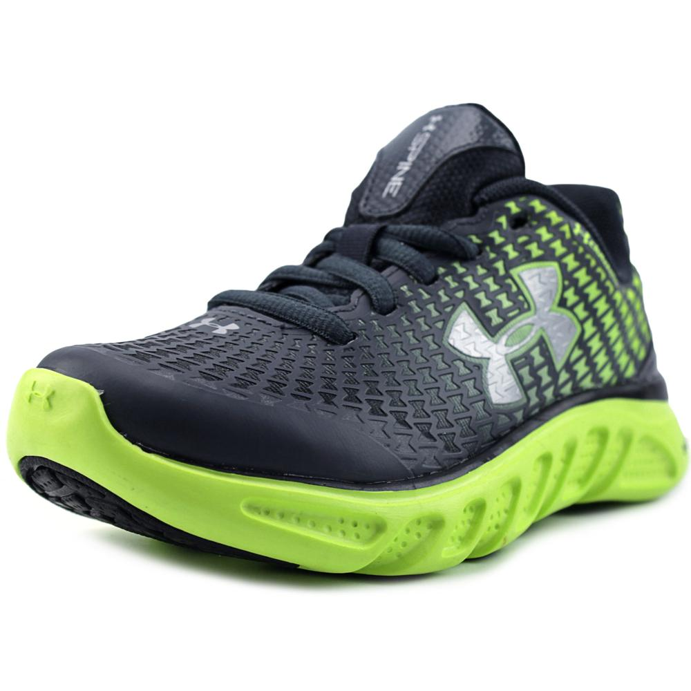 Under Armour UA BPS Spine Clutch Youth Round Toe Synthetic Green Running Shoe