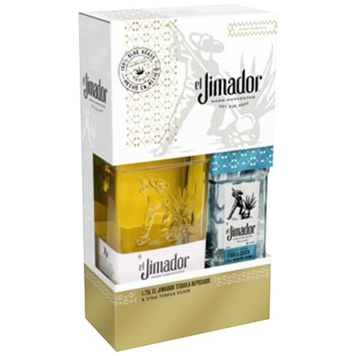 El Jimador Reposado Tequila with Silver Tequila Gift Set, 2 pc