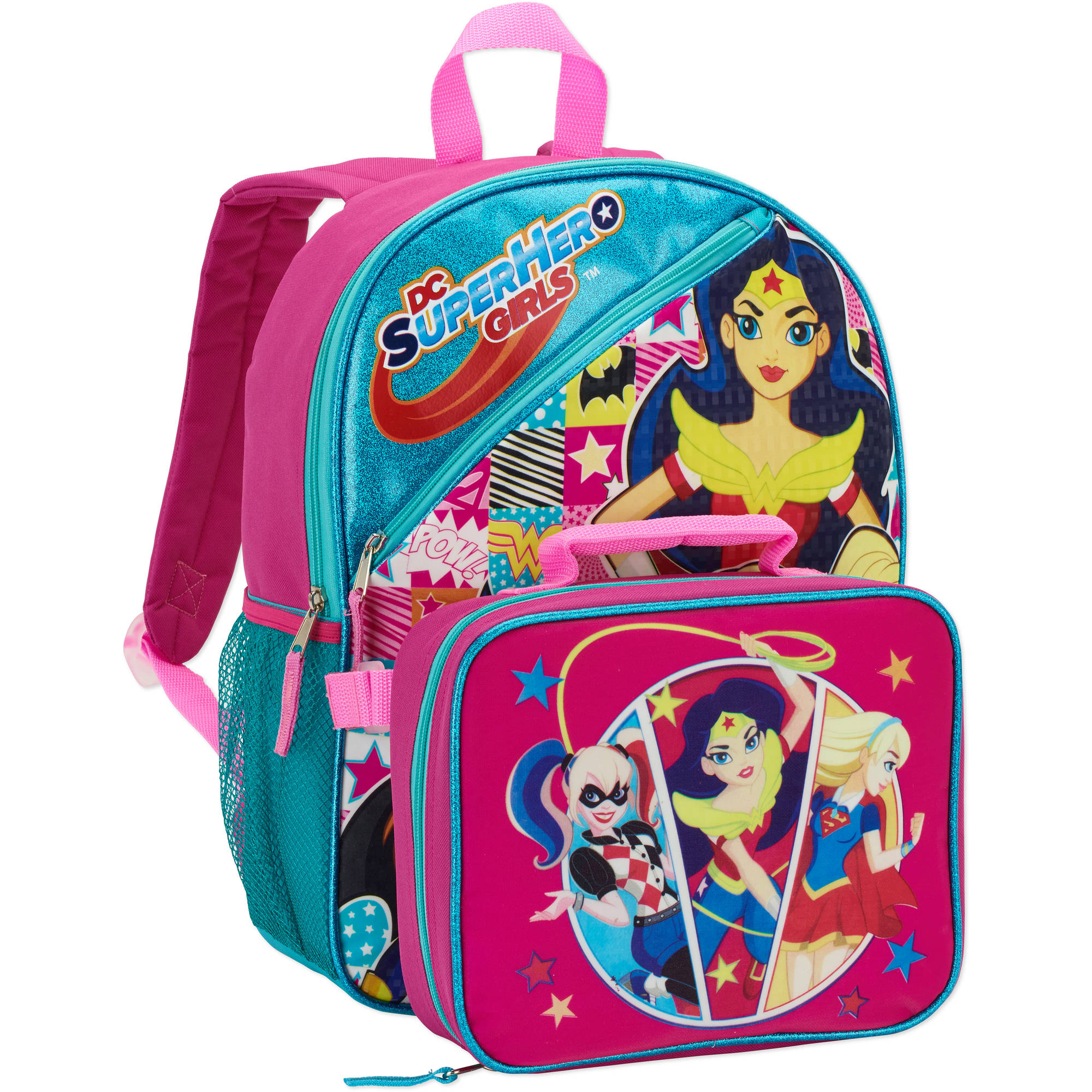 Kids Full Size Backpack with Detachable Lunch Bag Collection
