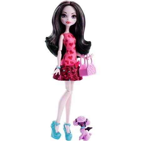 Monster High Ghoul's Beast Pet Draculaura - Pink Monster High