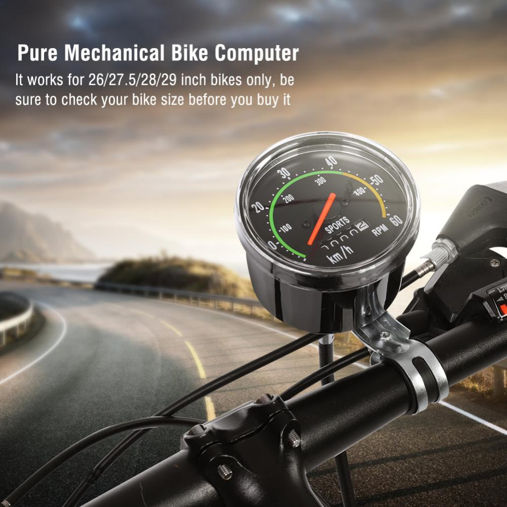 Mechanical Bicycle Computer Bike Speedometer Odometer Cycling Stopwatch Cyclocomputer, Bicycle Speedometer, Bike Computer